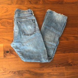 Gap 1969 Distressed Boot Cut Jeans
